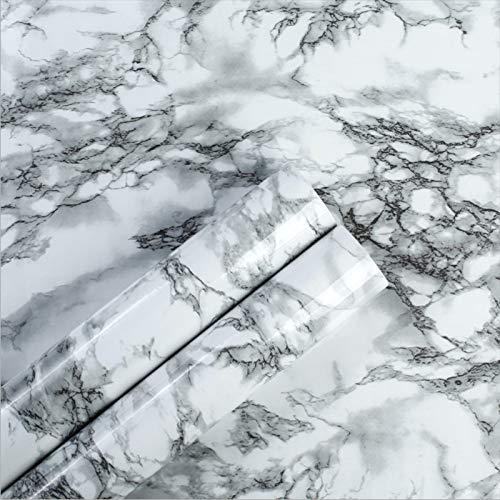 Homye Selbstklebende Tapete Küche Marmor Tapete PVC Tapete Aufkleber Marmor Arbeitsplatte Aufkleber Badezimmer selbstklebende wasserdichte Tapete möbel wandschutz folie