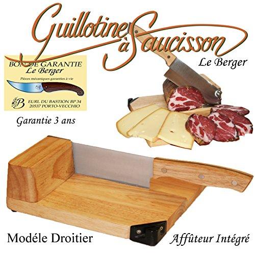 Trancheuse Universelle Guillotine à Saucisson Fromage Charcuterie Toque Chef By Le Berger AFFUTEUR INTEGRE