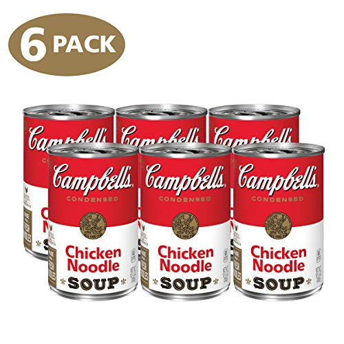 Campbell's Condensed Chicken Noodle Soup, 10.75 oz. Can, (Pack of 6)