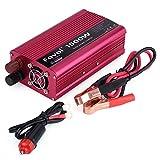 1500 W DC 12 V a CA 230 V Convertidor de energía de coche de alto polvo inversor adaptador de cargador USB dual con puertos USB cable largo enchufe de cigarrillos y cable de clip de batería