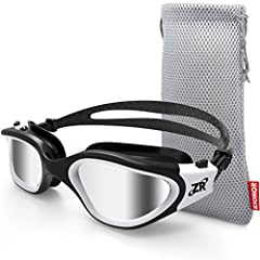 [SPECIAL POLARIZED LENS] - ZIONOR swim goggles featured with polarized lens, provides better eyes protection against harmful UV rays and lights, restore true color, eliminate reflected light and scattered light, for outdoor swimming, surfing, kayakin...