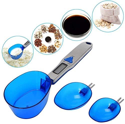 500G / 0.1G Keukenweegschaal Lepel Gram Maatlepel, Met 3 Maatlepels Milligram Meten Voor Portie Thee, Meel, Kruiden, Medicijnen
