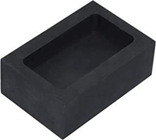 Graphite Ingot Mold, Melting Casting Mould for Gold Silver Aluminum Copper Brass Zinc Plumbum and Alloy Metals (55x37x20mm - 150g Gold/70g Silver)