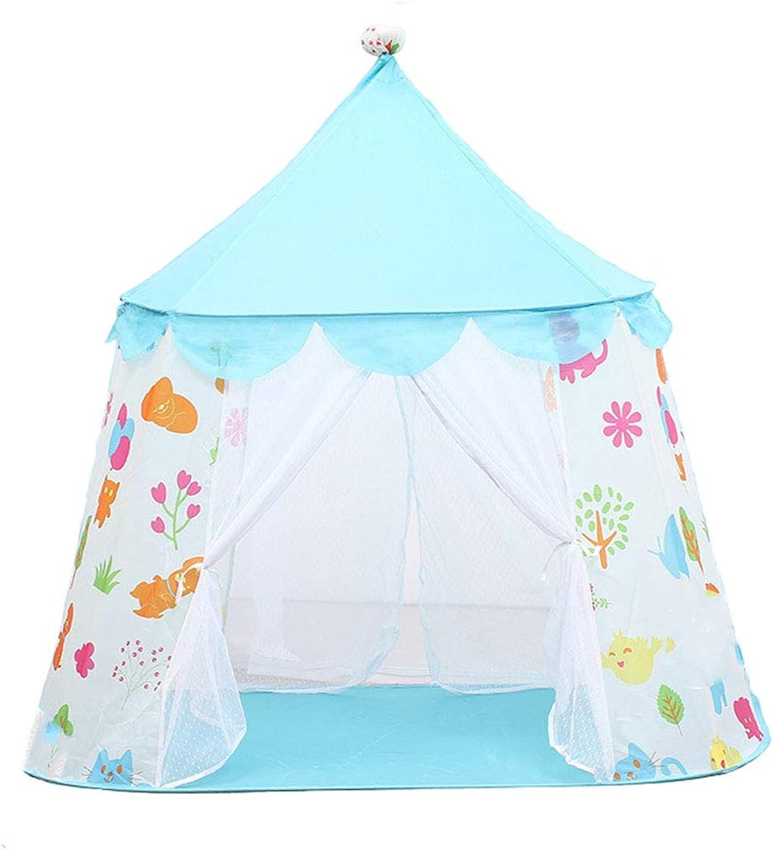 Outdoor Zelt Prinzessin Castle Play Zelt Kinder Spielhaus mit Zelt Spielzeug Indoor und Outdoor-Spiele (Farbe   Blau)