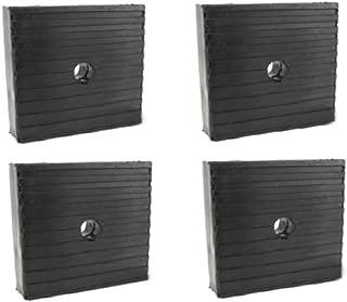 4 Pack Medium Anti Vibration Isolation Pads Air Compressor Heavy Equipment 4x4x1