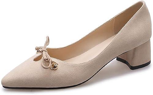 Einzelne Schuhe Frühling und Herbst dick mit Damen Wild Gentle Damenschuhe