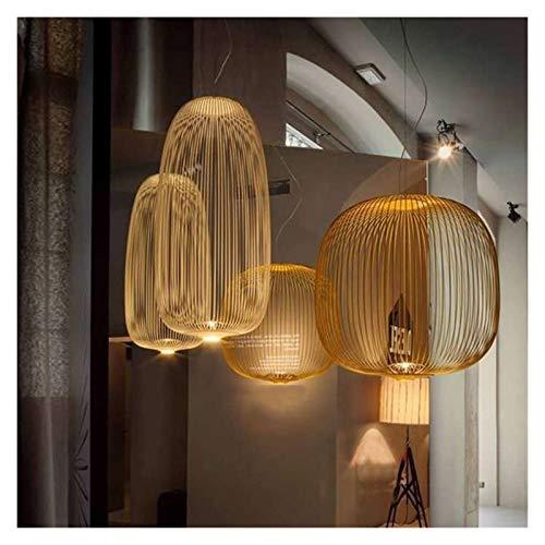 XWZH Foscarini Raggi 1/2 a sospensione Lampade a LED moderna cucina appeso Bird Cage Infissi Dining Room Ristorante Decor (Body Color : 25x25CM)