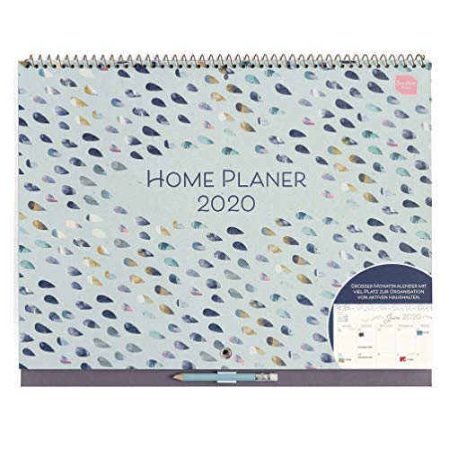 Boxclever Press Home Planer Kalender 2020. Großer Kalender 2020 Wandkalender mit großen Terminfeldern pro Tag, Platz für Notizen & Tasche. Wandkalender 2020, ab sofort nutzbar bis Dezember 2020