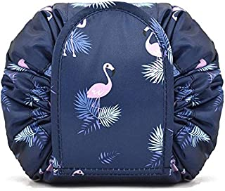 Makeup Organiser, H HOME-MART Portable Lazy Drawstring Makeup Bag Travel Cosmetic Bag Pouch Toiletry Organizer Waterproof ...