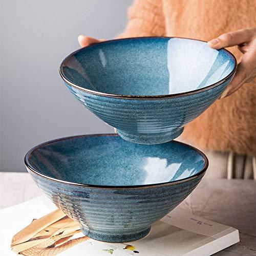 YLZNAN Keramik Ramen-Schüssel, Große 43 Unzen for Nudeln, Nudeln, Udon, Thai-Essgeschirr for Jede Suppe Mahlzeit Schüssel Durchmesser: 7,87 Zoll