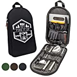 13 PC Grilling and Camping Cooking Set for The Outdoors BBQ - Stainless...