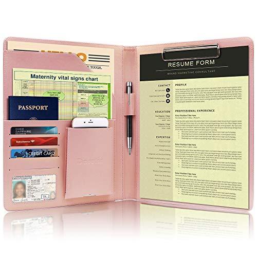 Darolin Business/Resume Padfolio Portfolio Folder with Letter/A4 Size Clipboard