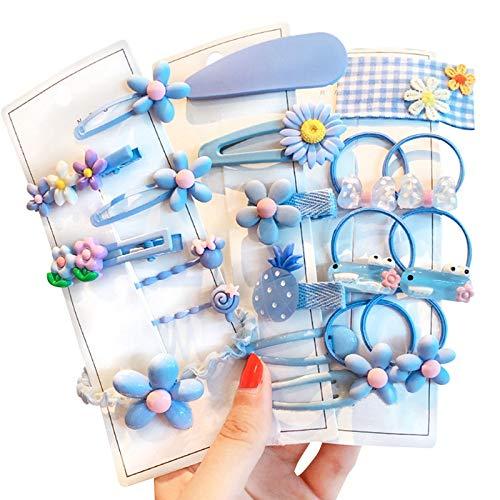 FunPa Juego de pinzas para el pelo para niñas, varios bonitos pasadores para el pelo, con flores