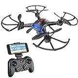 Holy Stone F181W Drone avec caméra HD grand angle 720p Quadrirorots RC avec maintien d'altitude, capteur de gravité, vol facile pour débutant, compatible avec casque de réalité virtuel flips 3D