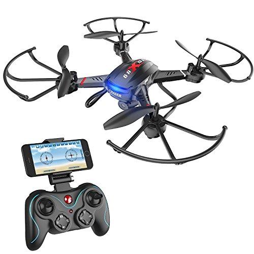 Holy Stone Drone F181W Elicotteri Quadrotor FPV con Videocamera HD WIFI Funzione di Altezza di Volo Automatica Funzione Sensore di Gravità RTF UAV per Principianti alla Guida