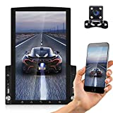 """AMPrime Android Car Stereo Double Din Radio with Bluetooth 9.7"""" 3D Touch Screen FM RDS Receiver MP5 Car Player, Support Wi-Fi GPS Navigation Mirror Link for Android iOS Phone + Rear View Camera"""