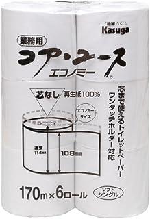 【ケース品】 コアユースエコノミー6ロールシングル170M