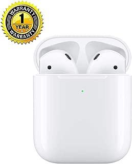 完全ワイヤレスイヤホン iPhone Airpods 2 用 ワイヤレス充電と Bluetooth対応 自動でオンになり、自動で接続 対応Siriへアクセス