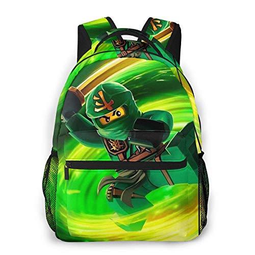 Yuantaicuifeng Ninj-ago Unisex Elegant Bookbag for Boys Girls Travel Backpack Students Bookbags