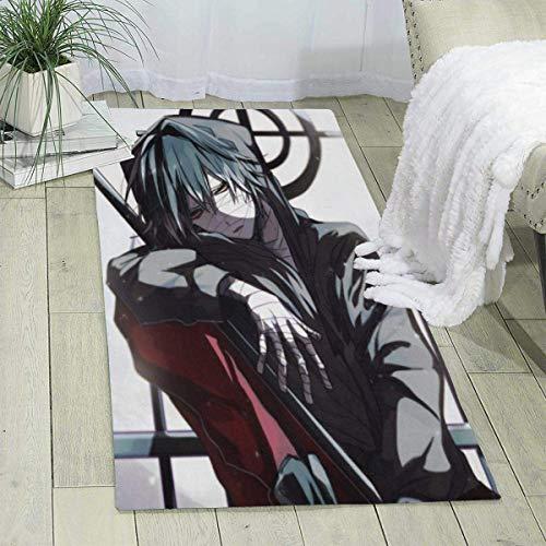 Anime Angels of Death - Alfombra de poliéster, muy suave, antideslizante, para comedor, dormitorio, sala de estar, balcón, baño, oficina, entrada, etc.