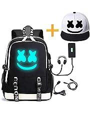 He-Bag Marshmallow Rugzak Lichtgevende DJ met USB-oplaadpoort, uniseks mode reisrugzak (FM)
