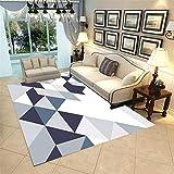 Kunsen Cuadros habitacion Juvenil mesas Comedor Grandes Dormitorio Alfombra Azul Blanco Rectangular Moderno Anti-Diapositiva y Caída alfombras a Medida Online 80X120CM 2ft 7.5' X3ft 11.2'