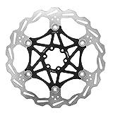 Fsskgxx Fahrrad bremsscheibe, 160mm / 180mm / 203mm Edelstahl Fahrrad schwimmende bremsbelag für MTB Mountainbike BMX (schwarz 203mm)