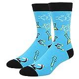Men's Funny Chemistry Lab Crew Socks Novelty Science Nerd School Teacher Gift