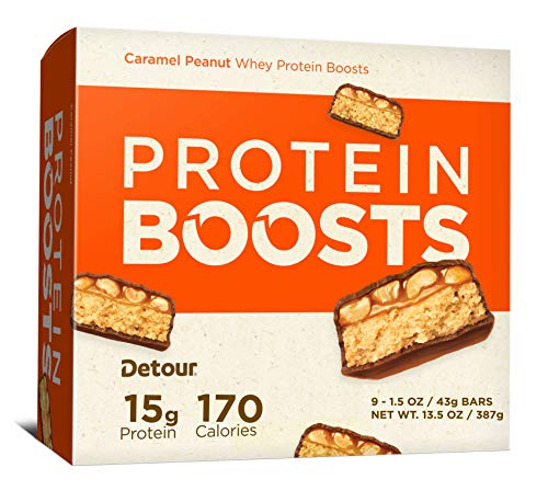 Detour Protein Boosts Bars, Caramel Peanut, 1.5 Ounce, 9 Count