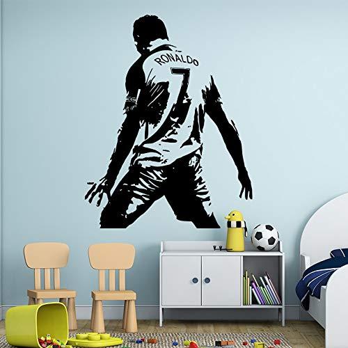 UEFA Fútbol europeo Fútbol Deportes Cristiano Ronaldo CR7 Celebre el gol Etiqueta de la pared Calcomanía de vinilo Etiqueta engomada del coche Ventiladores para niños Dormitorio Club Decoración p