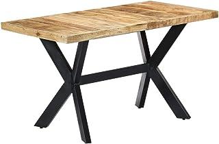 vidaXL Bois de Manguier Massif Brut Table de Salle à Manger Table à Dîner Table de Cuisine Table de Repas Meuble à Dîner T...