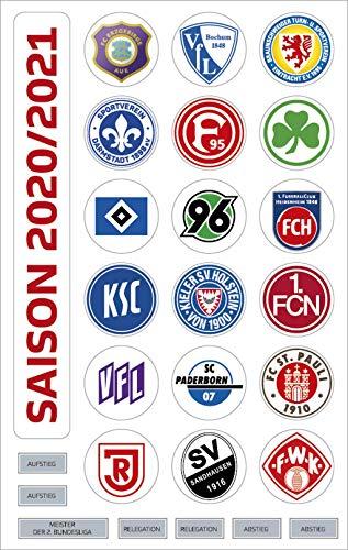 Am Ball Com 2. Bundesliga Magnettabelle - Vereinswappen (Saison 2020-2021)