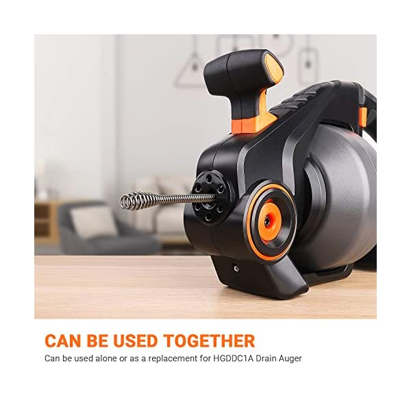 Desatascador de desagües, TACKLIFE 7,5m x 7mm Desatascador espiral manual, Limpiar Tubo de Diámetro 19-51mm, Herramienta…