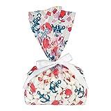 Fun Express - Nautical Baby Shower Cello Bags for Baby - Party Supplies - Bags - Cellophane Bags - Baby - 12 Pieces
