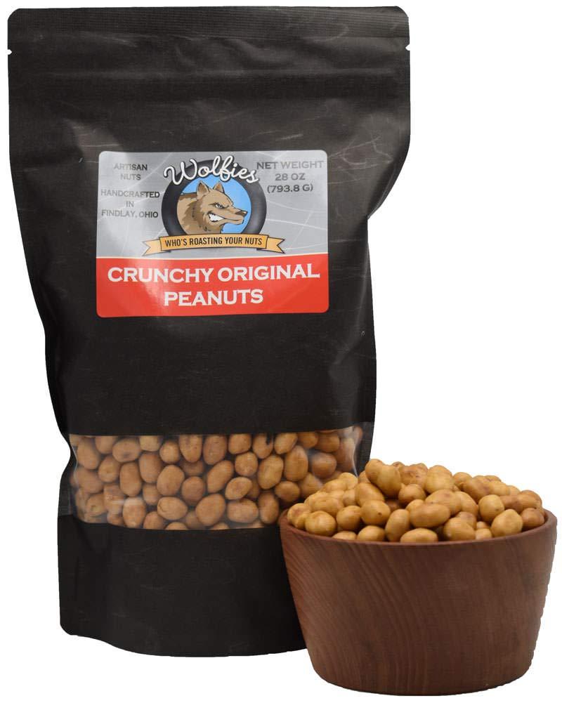 WOLFiES Crunchy Original Peanuts cheap Bombing free shipping Bag 28 oz. Resealable