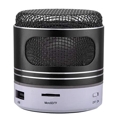 Skryo🥇🥇 Mini Bluetooth Lautsprecher USB Led Licht Wireless Portable Music Box Subwoofer Klein (Black)