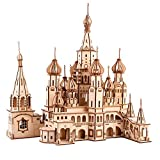 Batop 3D Puzzle en Bois - Laser Cut Puzzle en Bois - Cathédrale Saint Basile - Puzzle en Bois 3D Jouet Cadeau pour Adulte Enfant (569PCS)
