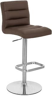 Zuri Furniture Brown Lush Adjustable Height Swivel Armless Bar Stool