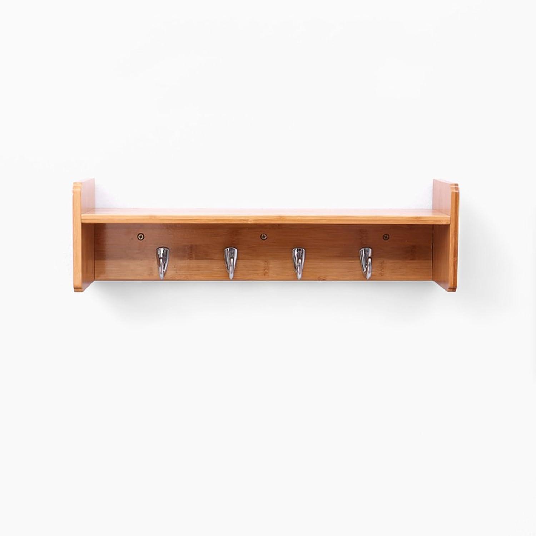TIANTA- Multifunctional Wall-Mounted Wooden Storage Shelf Coat Stand Coat Rack Display Stand Coat Hooks Home Furnishing (Size   5 Hooks)