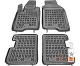 Rezaw-Plast Alfombrillas de Goma Compatible con Fiat Panda III (Desde 2012) + Limpiador de Plasticos (Regalo) | Accesorios Coche Alfombrilla Suelo