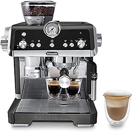 De'Longhi La Specialista Espresso Machine with Sensor Grinder, Dual Heating System, Advanced Latte System & Hot Water Spout for Americano Coffee or Tea, Black, EC9335BK