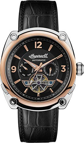Ingersoll Men's The Michigan Automatic Watch with Black Dial and Black Leather Strap I01102B