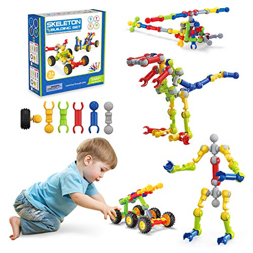 Kids Toys Stem Toys Building Blocks,110 Pcs Building Toys for Toddlers,Educational Engineering Kids Preschool Learning Kit Tinker Toys,Birthday Gifts for Age 3 4 5 6 7 8 9 10 Years Old Boys Girls
