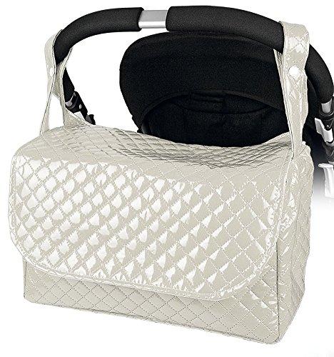 Bolso carrito bebe maternidad lactancia plastificado color marfil