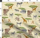 Elefant, Giraffe, Nashorn, Löwe, Afrika, Safari, Zebra