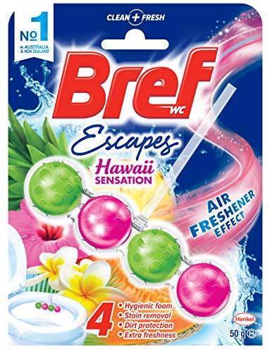 Bref Escapes Hawaii Sensation with Air Freshener Effect, Rim Block Toilet Cleaner, 50g