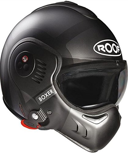 Roof ルーフ Boxer V8 Bond Helmet 2018モデル フルフェイス・ジェットヘルメット マットブラック XL(61~62cm)
