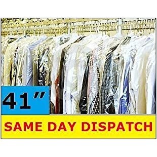 """20 QUALITY POLYTHENE GARMENT CLOTHES COVERS BAGS 40"""""""