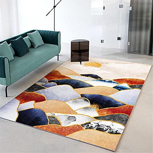alfombras Baratas Alfombra marrón roja, Pico de montaña Anti-Mite Conveniente, fácil de vacío, sin Mosca Alfombra de Color alfombras de baño -Marrón Rojizo_200x300cm
