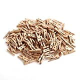 Product Image of the CCINEE 150 PCS Mini Wooden Clothespins,Multi-Function Clothespins Photo Paper Peg Pin Craft Clips for Home School Arts Crafts Decor, 1 Inch